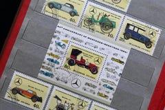 Portost?mplar av Republiken Korea i albumet Sl?ppt till den 60th ?rsdagen av Mercedes-Benz 1926-1986 visat royaltyfria foton