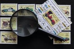 Portost?mplar av Republiken Korea i albumet Sl?ppt till den 60th ?rsdagen av Mercedes-Benz 1926-1986 visat arkivfoto