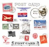 Portostämplar och etiketter från US Royaltyfria Bilder