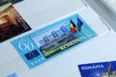 Portostämplar, 60th årsdag av Europeiska rådet Royaltyfria Foton
