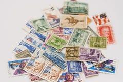 portostämplar USA Royaltyfria Foton