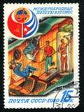 Portostämplar USSR 1980 Royaltyfri Fotografi