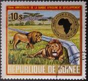 Portost?mpel 1975 Republic of Guinea fauna E fotografering för bildbyråer