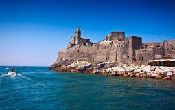 Portovenere圣彼得罗教会  免版税库存图片