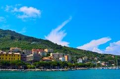 Portovenere海岸在意大利 图库摄影