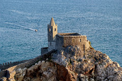 Portovenere, Church of St. Peter from the castle Royalty Free Stock Photos
