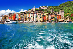 Portovenere, Cinque Terre, Italia fotografie stock