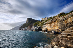 Portovenere Cliffs Royalty Free Stock Photos