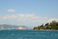 Portovenere harbor, Italy Stock Photos