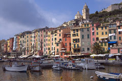 Portovenere in  Italy. Scenic view op port and village portovenere in Italy Stock Images