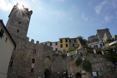 PORTOVENERE, ITALY - SEPTEMBER 24 2017 - Many Tourists in pictoresque italian village. PORTOVENERE, ITALY - SEPTEMBER 24 2017 - In Liguria one of the most Stock Images