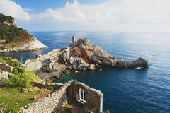 Portovenere, Italy. View of the church on the Ligurian Riviera, Italy Royalty Free Stock Photos
