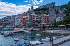 Portovenere in Italy. Portovenere village and harbour in Italy Royalty Free Stock Images
