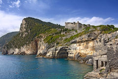 Portovenere La Grotta Di Lord Byron Royalty Free Stock Images