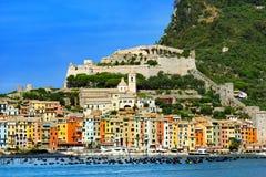 Portovenere - la Liguria Italia Fotografia Stock Libera da Diritti