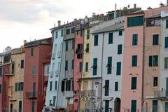 Portovenere painted houses of pictoresque italian village UNESCO. Heritage Site. ,italy Stock Photography