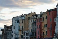 Portovenere painted houses of pictoresque italian village UNESCO. Heritage Site. ,italy Stock Image