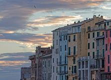 Portovenere painted houses of pictoresque italian village UNESCO. Heritage Site. ,italy Royalty Free Stock Images