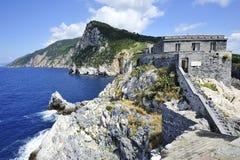 Portovenere Palmaria海岛 库存图片