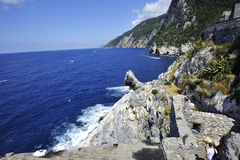 Portovenere Palmaria海岛 免版税库存图片