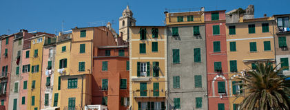 Portovenere pastel housing. Stock Photography