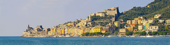 Portovenere pejzaż miejski Obrazy Royalty Free