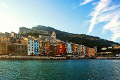 Portovenere view from the boat Royalty Free Stock Images