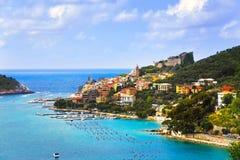 Portovenere village on the sea. Cinque terre, Ligury Italy Stock Photography