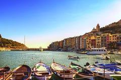 Portovenere village on the sea. Cinque terre, Ligury Italy Royalty Free Stock Photography