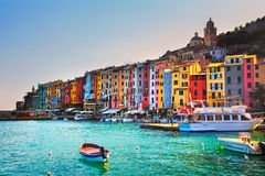 Portovenere village on the sea. Cinque terre, Ligury Italy Royalty Free Stock Photo
