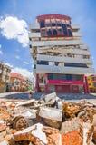 Portoviejo Ekwador, Kwiecień, -, 18, 2016: Budować pokazywać aftereffect 7 8 trzęsienie ziemi Fotografia Royalty Free