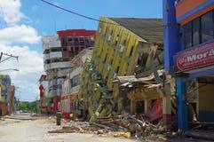 Portoviejo Ekwador, Kwiecień, -, 18, 2016: Budować pokazywać aftereffect 7 8 trzęsienie ziemi Zdjęcie Royalty Free