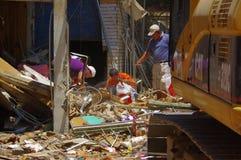 Portoviejo Ekwador, Kwiecień, -, 18, 2016: Budować pokazywać aftereffect 7 8 trzęsienie ziemi Obraz Royalty Free