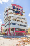 Portoviejo Ekwador, Kwiecień, -, 18, 2016: Budować pokazywać aftereffect 7 8 trzęsienie ziemi Zdjęcia Royalty Free