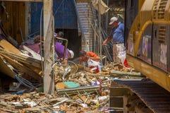Portoviejo Ekwador, Kwiecień, -, 18, 2016: Budować pokazywać aftereffect 7 8 trzęsienie ziemi Zdjęcie Stock