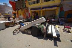 Portoviejo Ekwador, Kwiecień, -, 18, 2016: Budować pokazywać aftereffect 7 8 trzęsienie ziemi który niszczył centrum miasta Obrazy Stock