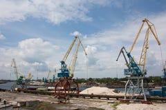 portowa ładunek rzeka Obrazy Royalty Free