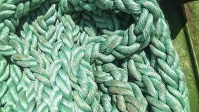 Portowa arkana cumownicza liny Arkana dla przymocowywać statki i ładunek Obraz Royalty Free