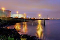 Portowa granica przy nocą 1 Obrazy Stock