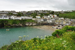 Portowa Isaac wioska, Cornwall, Anglia, UK obraz royalty free
