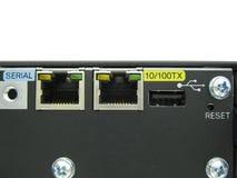 Portowa konsola ethernet Zdjęcie Royalty Free