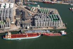 Portowa Rotterdam oleju zbiornika wysyłka Obrazy Stock