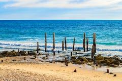 Portowa Willunga plaża na dniu, Adelaide Zdjęcia Royalty Free