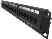 24 portowego Cat5e Cat6 łaty panelu Zdjęcia Stock