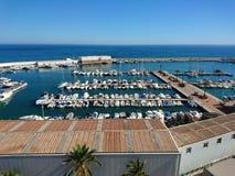 Portowy Bajadilla w Marbella Zdjęcia Royalty Free