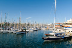 portowy Barcelona vell Zdjęcia Stock