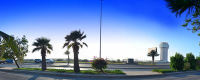 Portowy basztowy budynek przy światłem dziennym Obraz Royalty Free