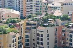 Portowy De Fontvieille, obszar miejski, obszar zamieszkały, neighbourhood, obszar wielkomiejski zdjęcia stock