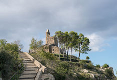 PORTOWY DE LOS ANGELES SELVA - monaster SANT PERE DE RODES (ESPAÃ ` A) Obraz Royalty Free