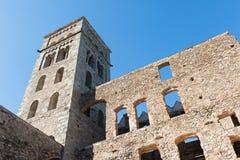 PORTOWY DE LOS ANGELES SELVA - monaster SANT PERE DE RODES (ESPAÃ ` A) Obrazy Royalty Free